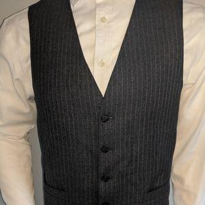 Joseph Abboud Blue Chalk Stripe Vest 40R Med Exc